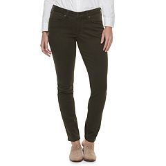 2712931d018ed Women's SONOMA Goods for Life™ Midrise Curvy Fit Sateen Skinny Pants