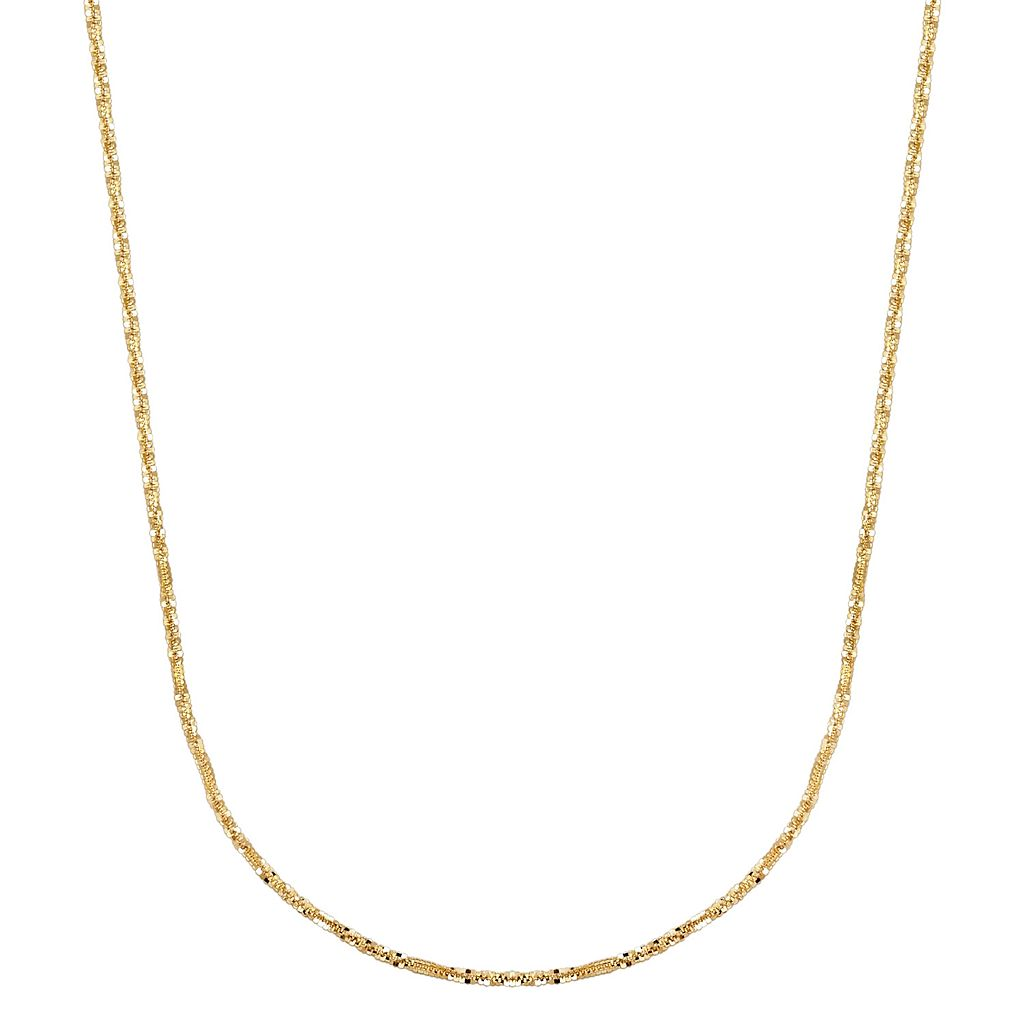 Everlasting Gold 14k Gold Sparkle Chain Necklace