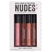 Academy of Colour 4 pkNudes Matte Liquid Lipstick Collection