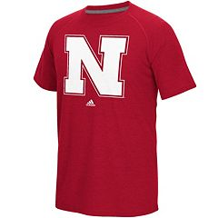 Men's adidas Nebraska Cornhuskers White Noise Bar Tee