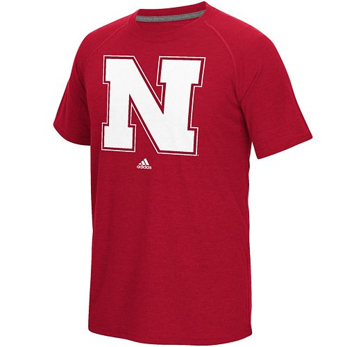 Men's adidas Nebraska Cornhuskers White Noise Bar Tee