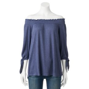 Women's French Laundry Smocked Off-the-Shoulder Top