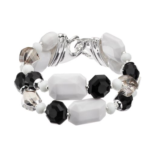 Napier Beaded Multi Strand Stretch Bracelet