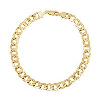 Everlasting Gold 14k Gold Curb Chain Bracelet