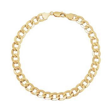 Everlasting Gold 14k Gold Curb Chain Bracelet