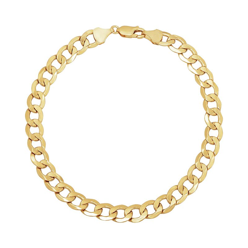"""Everlasting Gold 14k Gold Curb Chain Bracelet. Women's. Size: 8.5"""""""