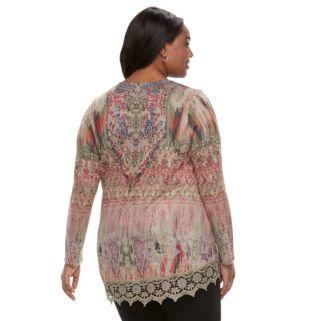 Plus Size World Unity Crochet Top