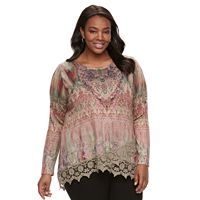 Plus Size World Unity Crochet Top