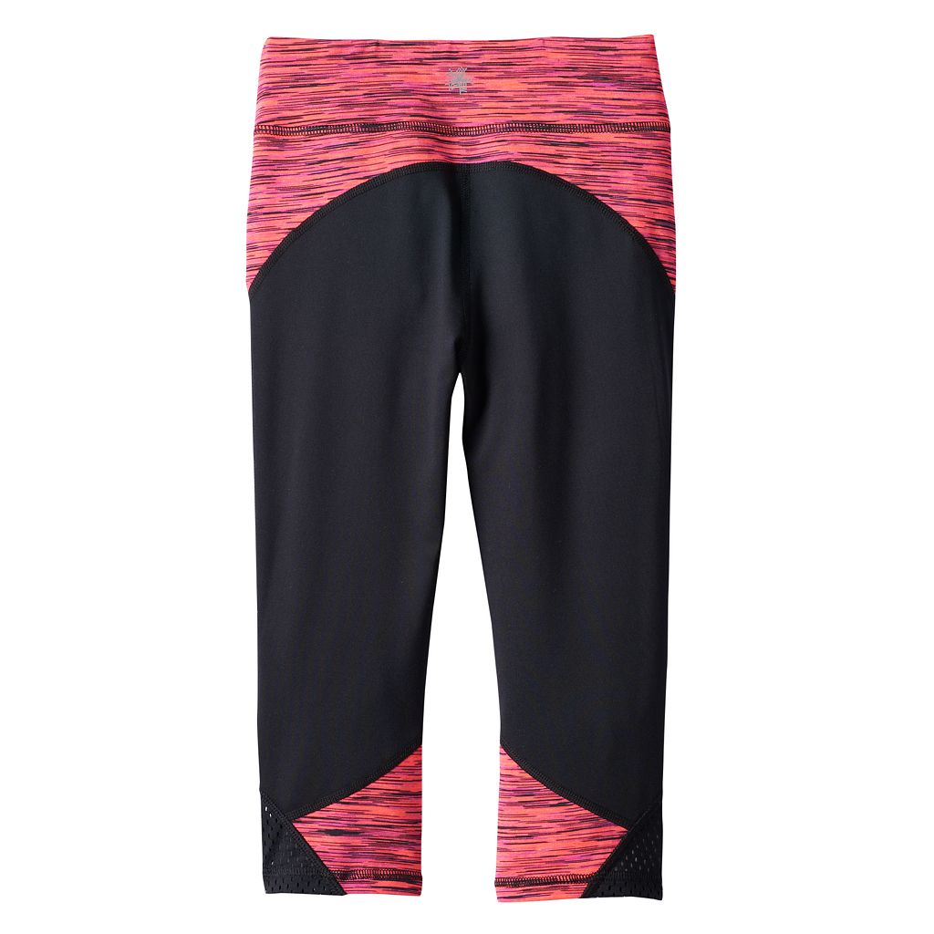 Girls 4-6x Tek Gear® Mesh Performance Capri Leggings
