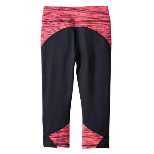 Girls 4-6x Tek Gear® Mesh Performance Capri Leggings