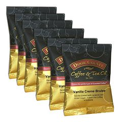 Door County Coffee Vanilla Crème Brulee Ground Coffee 6-pk.