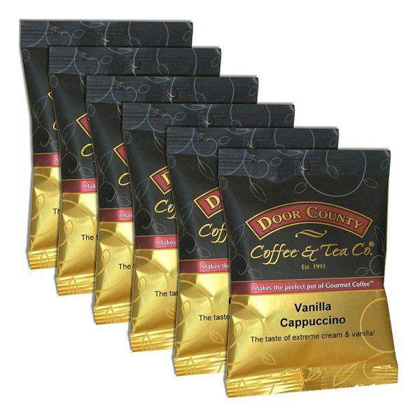 Door County Coffee & Tea Co. Vanilla Cappuccino Ground Coffee 6-pk.