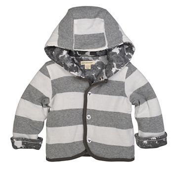Baby Boy Burt's Bees Baby Organic Striped Hooded Reversible Jacket