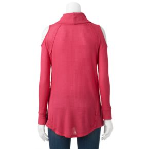 Women's French Laundry Textured Cold-Shoulder Top