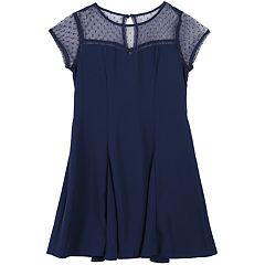 Girls 7-16 Speechless Illusion Neck Fit & Flare Skater Dress