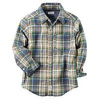 Boys 4-8 Carter's Plaid Button Down Shirt