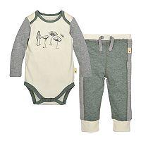 Baby Boy Burt's Bees Baby Organic Mushroom Bodysuit & Pants Set