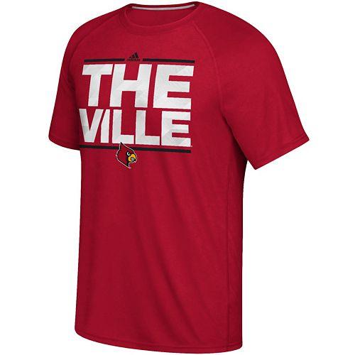 Men's adidas Louisville Cardinals Dassler City Nickname Tee