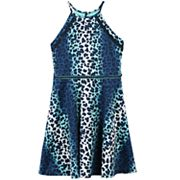Girls 7-16 Speechless Animal Print Fit and Flare Dress