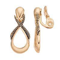 Napier Twisted Teardrop Nickel Free Clip On Earrings