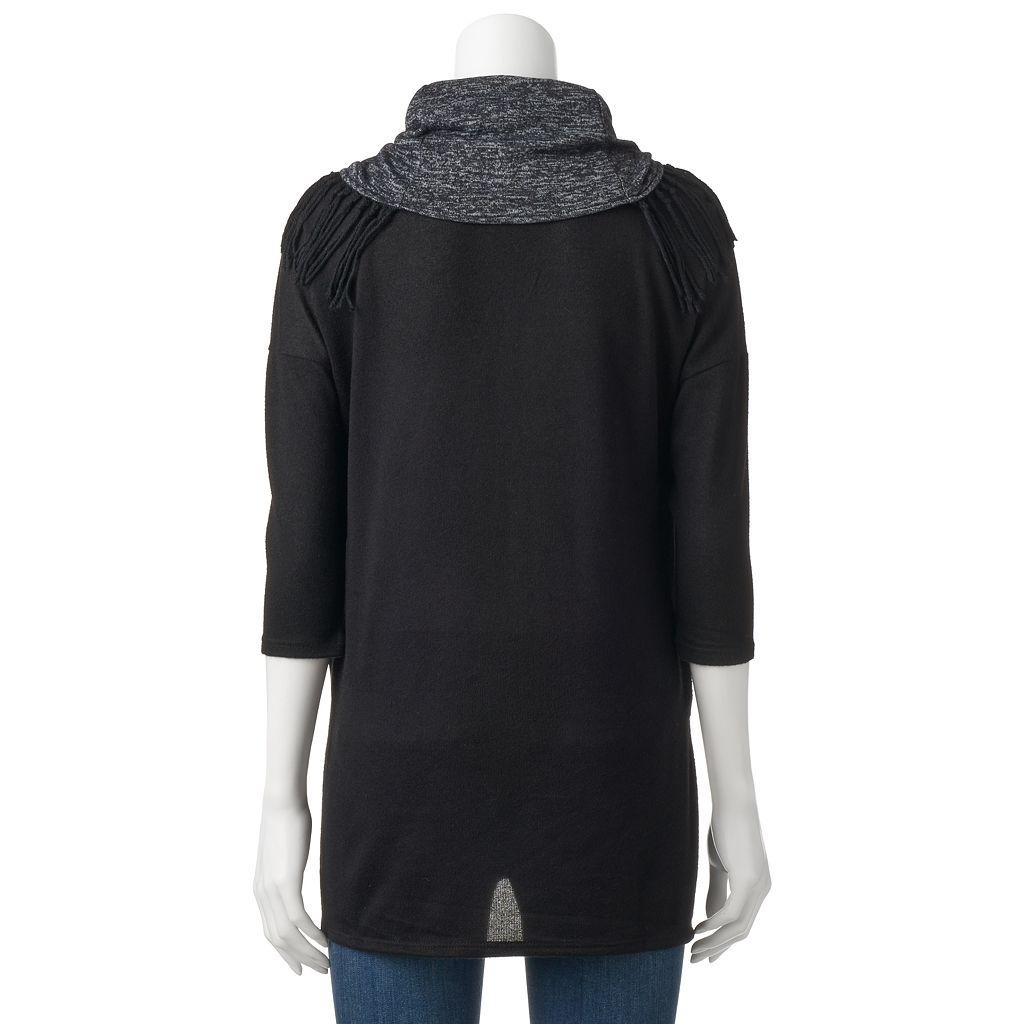 Women's French Laundry Fringe Scarf Sweater