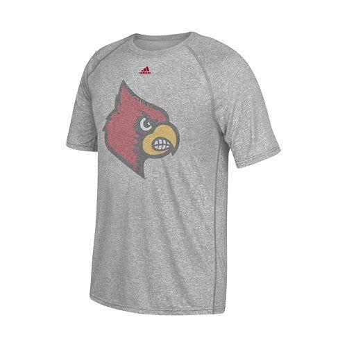 Men's adidas Louisville Cardinals Linear Play Logo Tee