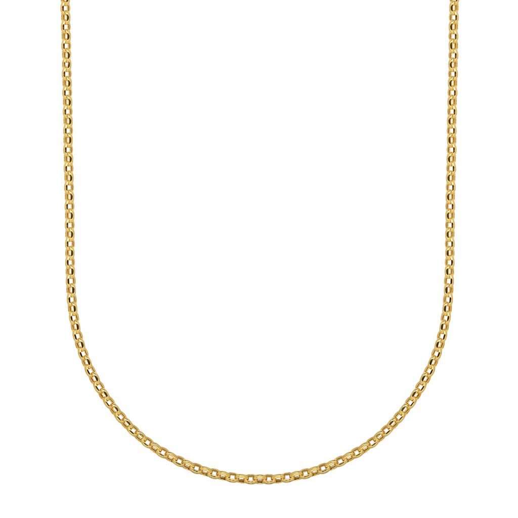Everlasting Gold 14k Gold Rolo Chain Necklace