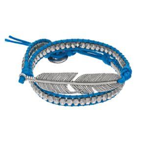 Mudd® Blue Feather Wrap Bracelet