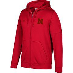Men's adidas Nebraska Cornhuskers Tonal Team Logo climawarm Hoodie