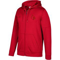 Men's adidas Louisville Cardinals Tonal Team Logo climawarm Hoodie