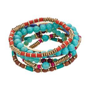 Mudd® Beaded Stretch Bracelet Set