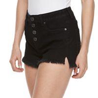 Juniors' Mudd® High Waist Frayed Shortie Shorts