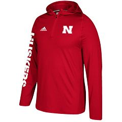 Men's adidas Nebraska Cornhuskers Sideline Training Hooded Pullover