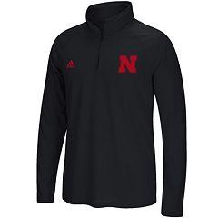 Men's adidas Nebraska Cornhuskers Sideline Basic Pullover