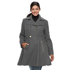 Plus Size Apt. 9® Wool Blend Double-Breasted Coat