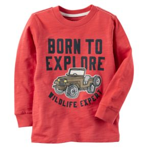 "Boys 4-7 Carter's ""Born To Explore Wildlife Expert"" Graphic Tee"