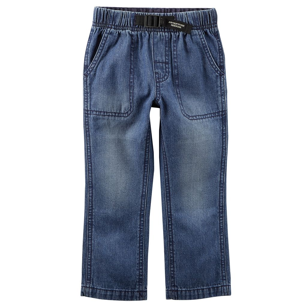 Boys 4-8 Carter's Buckled Denim Pants