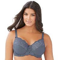 Glamorise Bras: Elegance Lacy Wonderwire Full-Figure Bra 9035