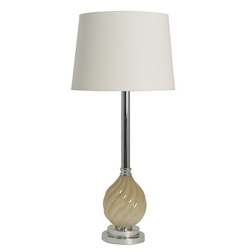 Decor Therapy Swirl Chrome Finish Table Lamp