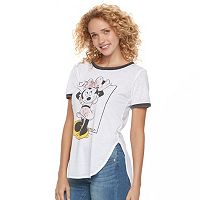 Disney's Minnie Mouse Juniors' Side Vent Ringer Graphic Tee