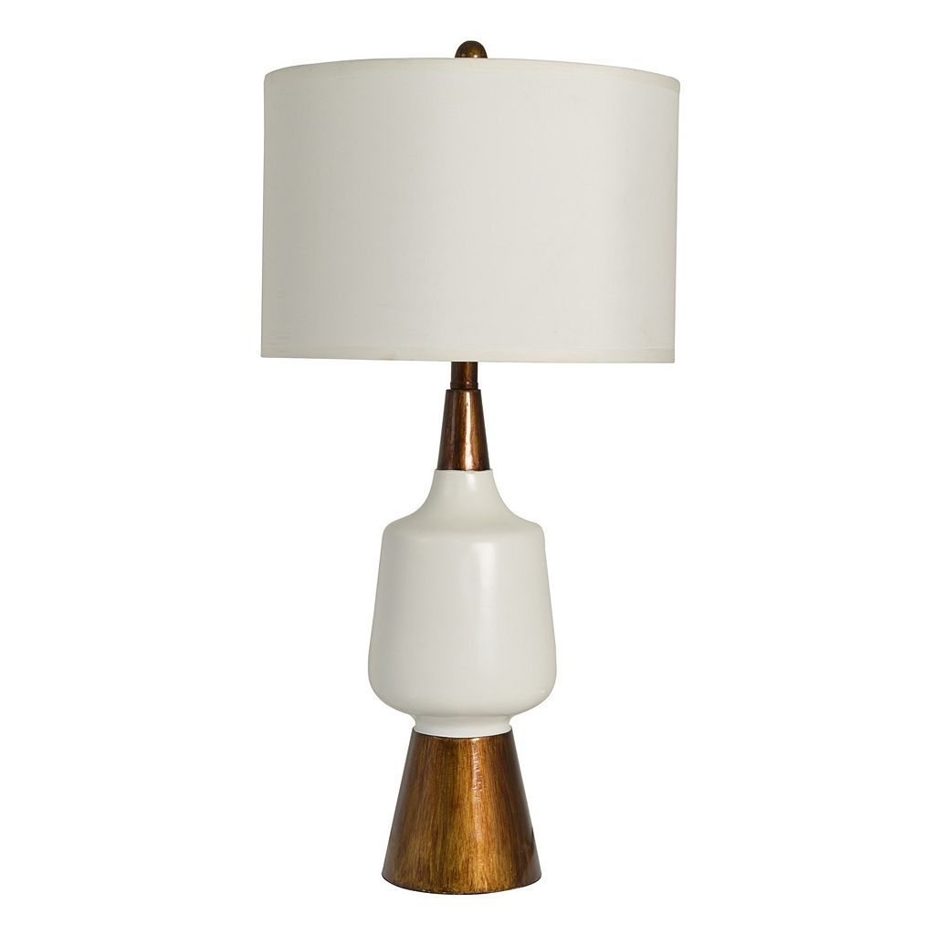 Decor Therapy Two-Tone Faux Wood Table Lamp