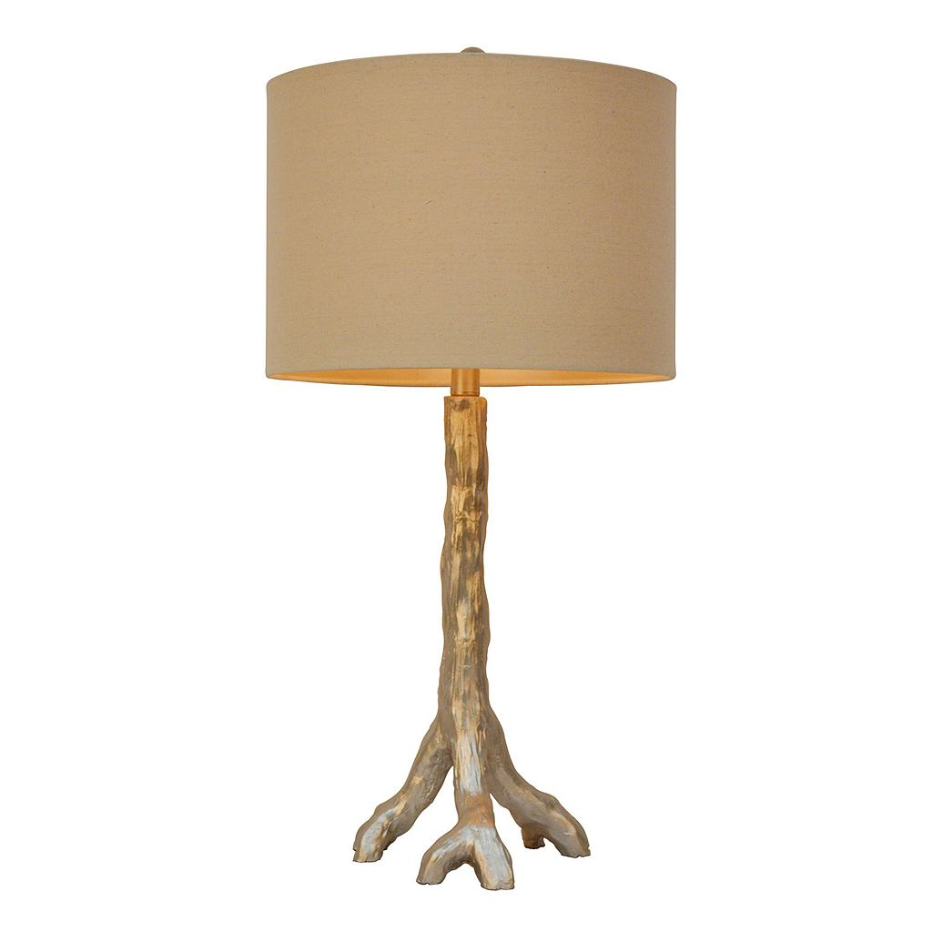 Decor Therapy Silver Finish Tree Branch Table Lamp