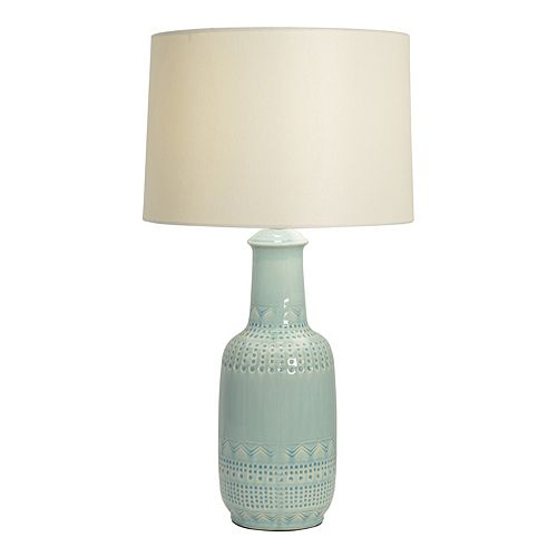 Decor Therapy Patterned Ceramic Table Lamp