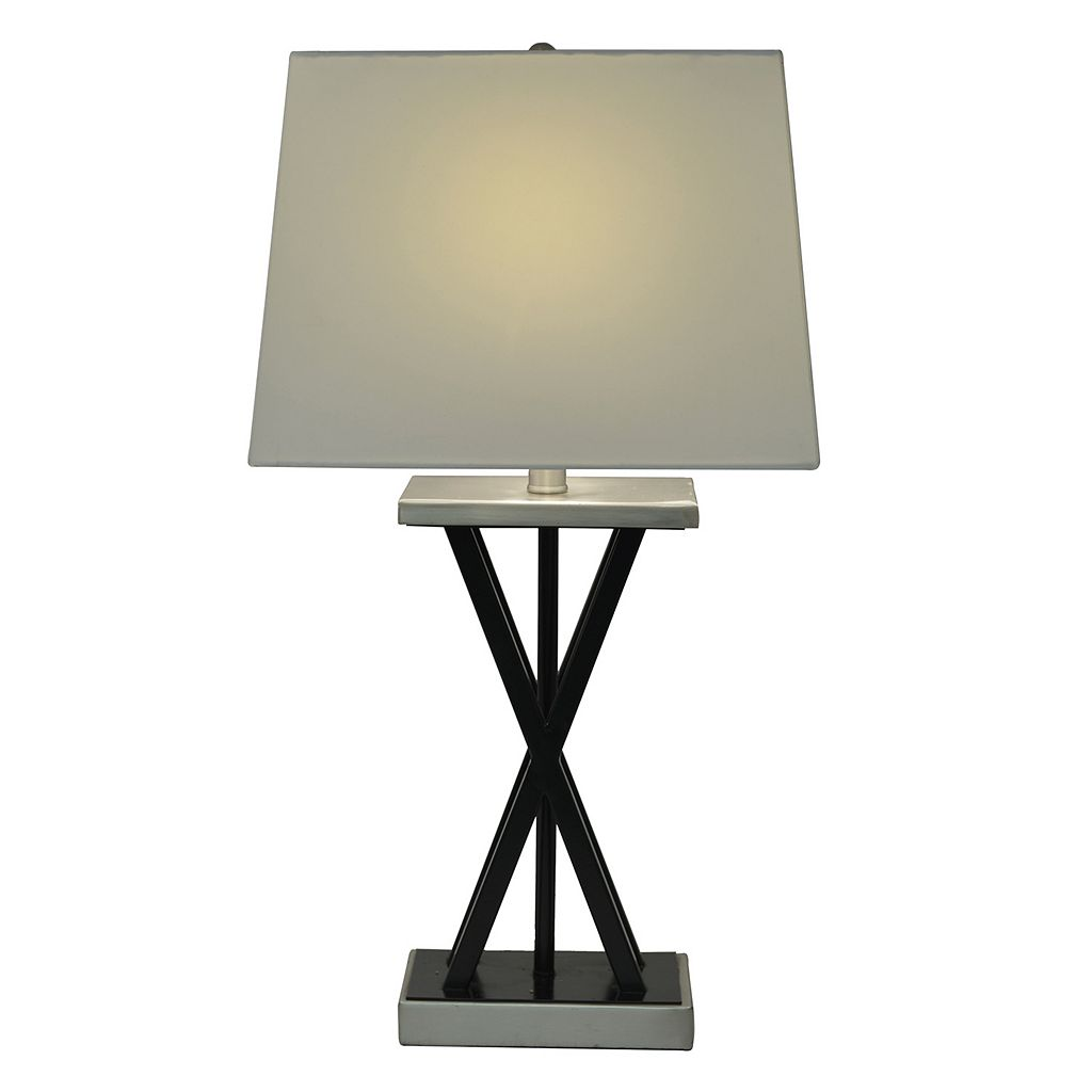 Decor Therapy Modern Matte Black Table Lamp