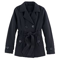 Girls 4-16 SO® Fleece Peacoat