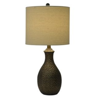 Decor Therapy Hammered Finish Table Lamp