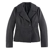 Girls 7-16 SO® Faux Wool Peacoat
