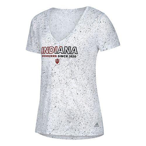Women's adidas Indiana Hoosiers Logo Stack Tee