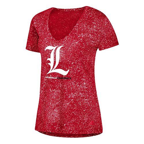 Women's adidas Louisville Cardinals Logo Stack Tee