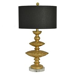 Decor Therapy Hammered Gold Finish Table Lamp